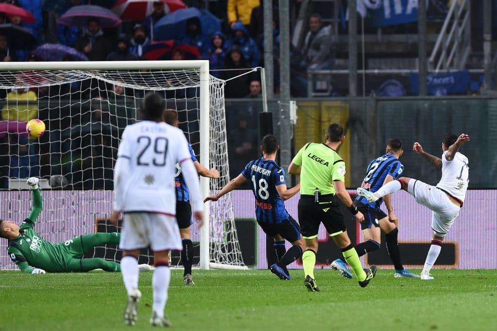 gol Oliva, Atalanta-Cagliari
