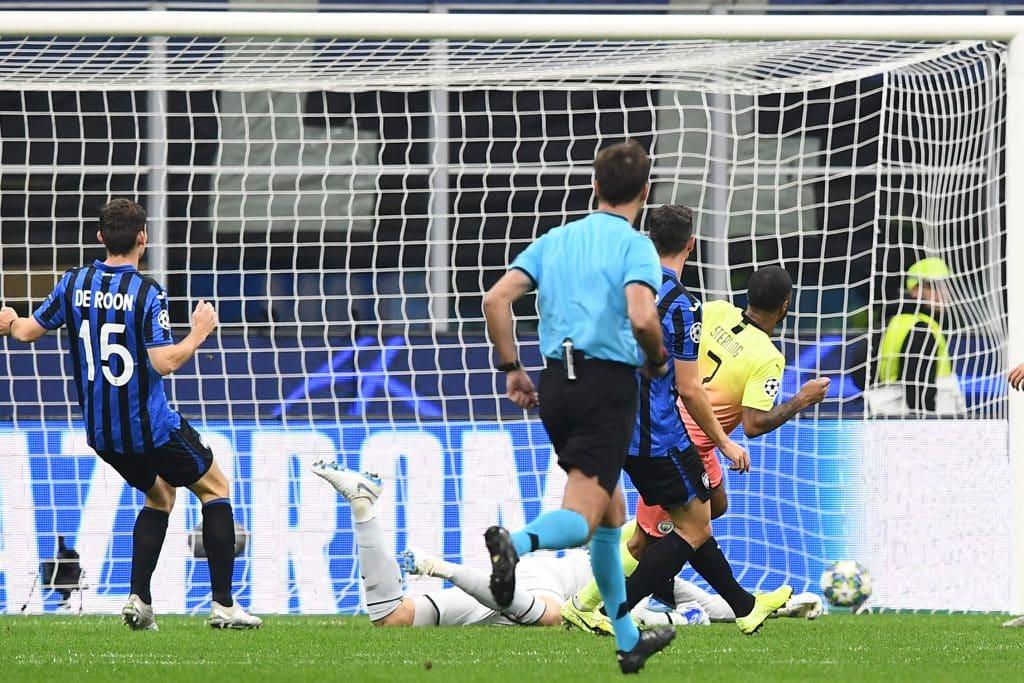 gol Sterling, Atalanta-Manchester City