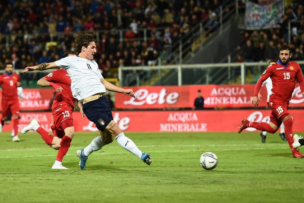gol Zaniolo, Italia-Armenia