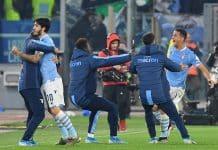 esultanza Lazio, 3-1 alla Juventus