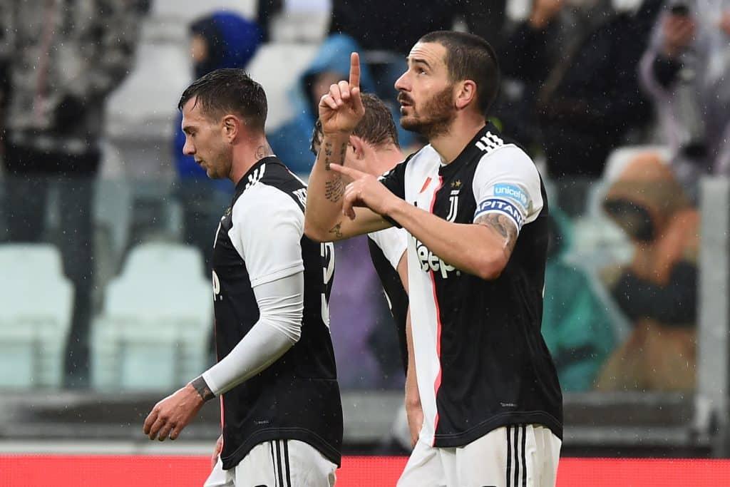 esultanza gol Bonucci, Juventus-Sassuolo