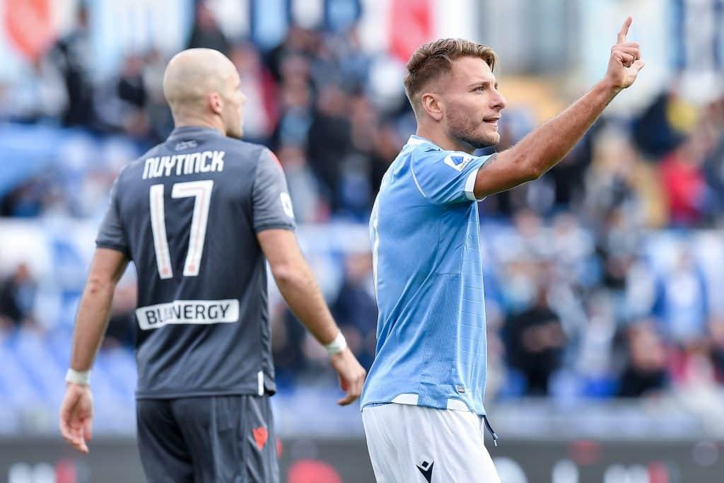 esultanza gol Immobile, Lazio-Udinese