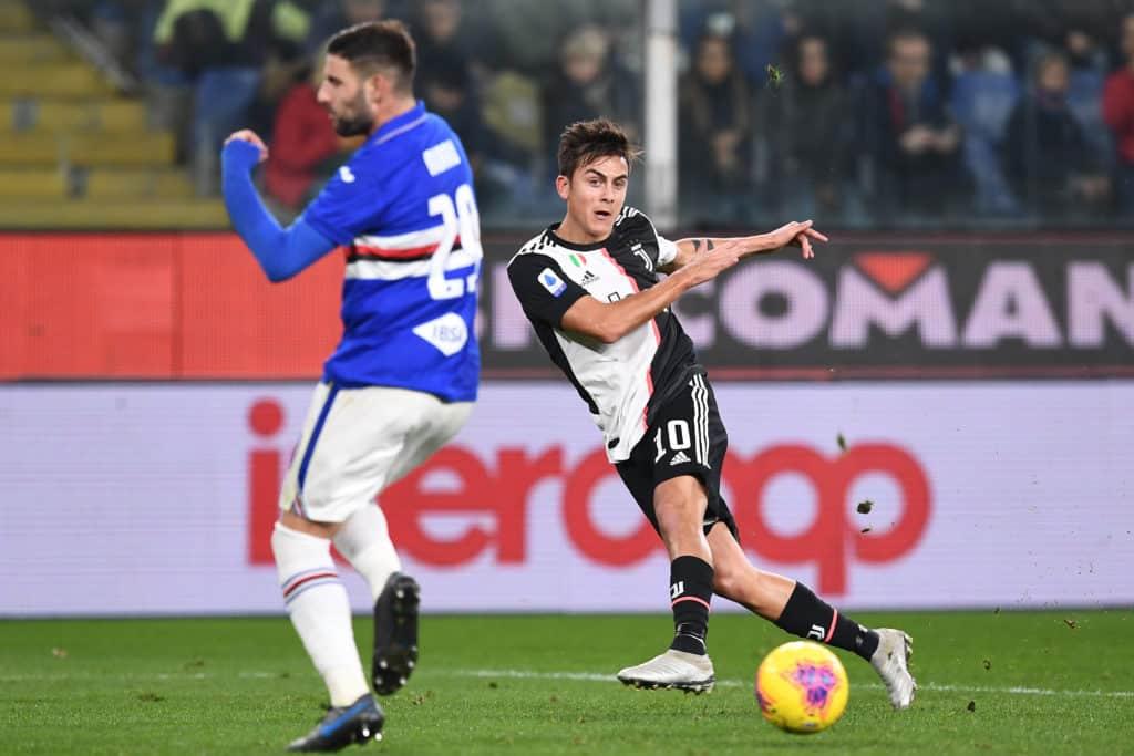 gol Dybala, Sampdoria-Juventus