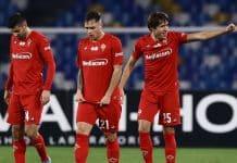 esultanza gol Chiesa, Napoli-Fiorentina