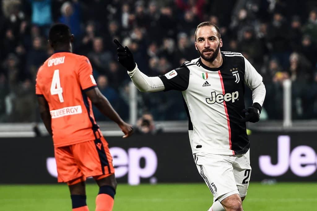esultanza gol Higuain, Juventus-Udinese