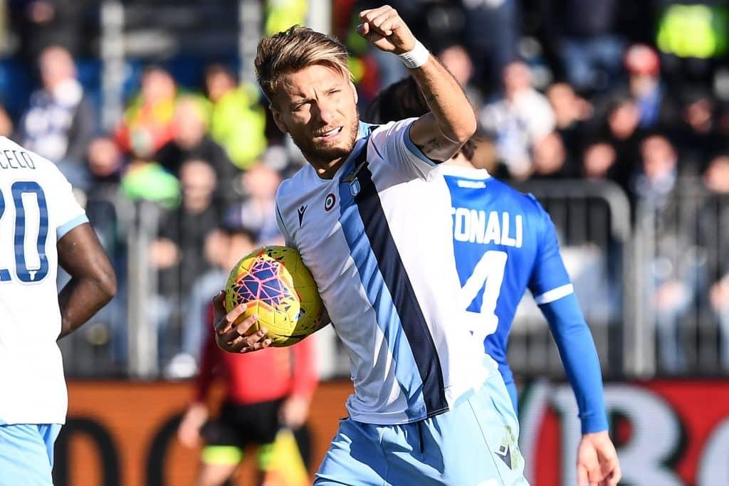 esultanza gol Immobile, Brescia-Lazio