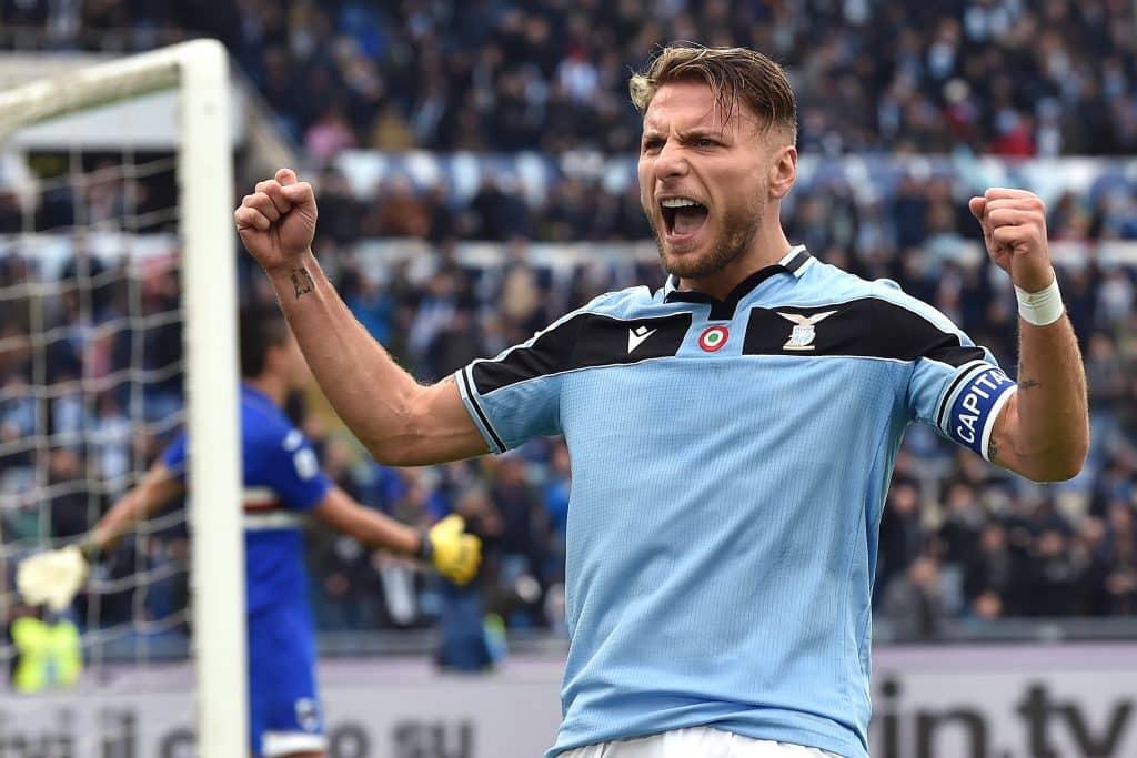 esultanza gol Immobile, Lazio-Sampdoria