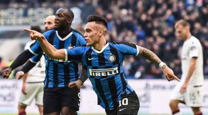 esultanza gol Lautaro Martinez, Inter-Cagliari