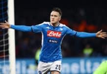 esultanza gol Zielinski, Napoli-Juventus