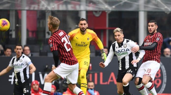gol Stryger Larsen, Milan-Udinese