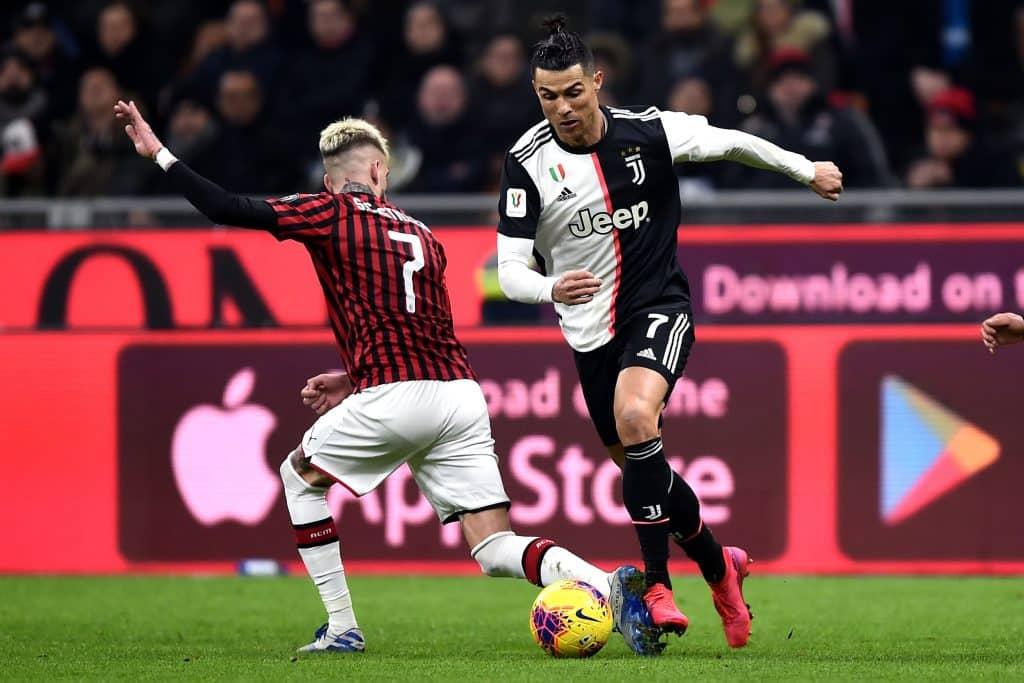 Ronaldo-Castillejo, Milan-Juventus