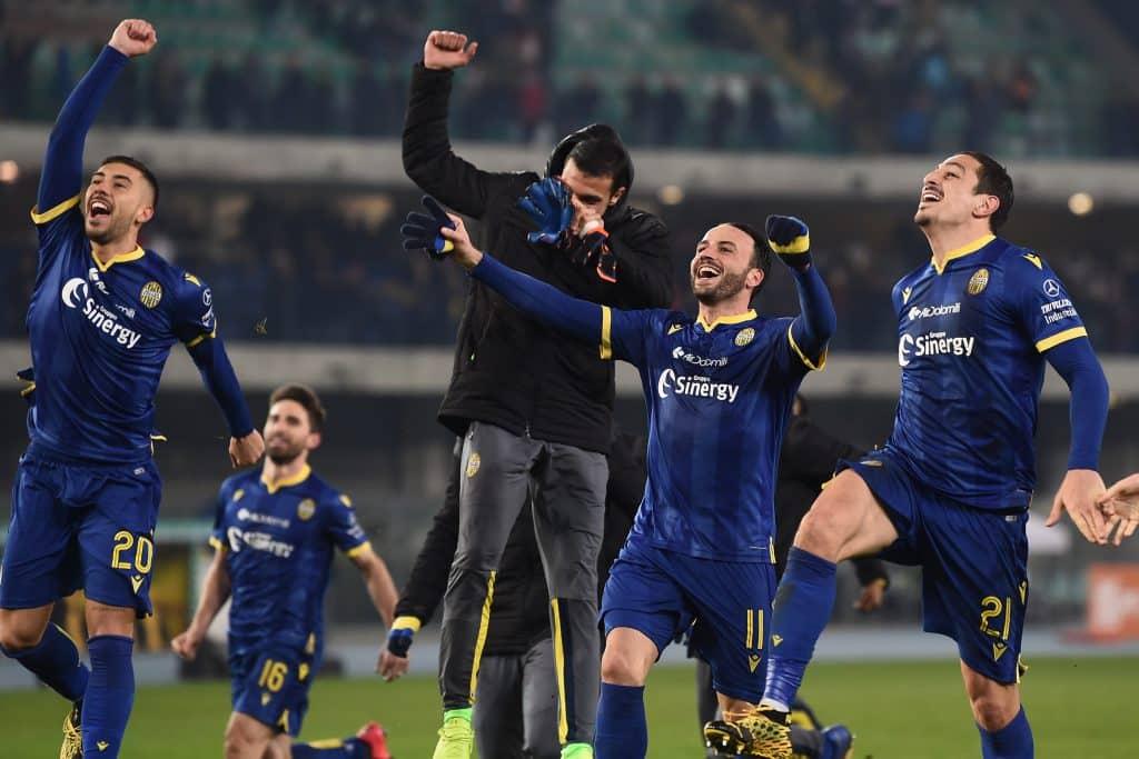 esultanza fine gara Verona