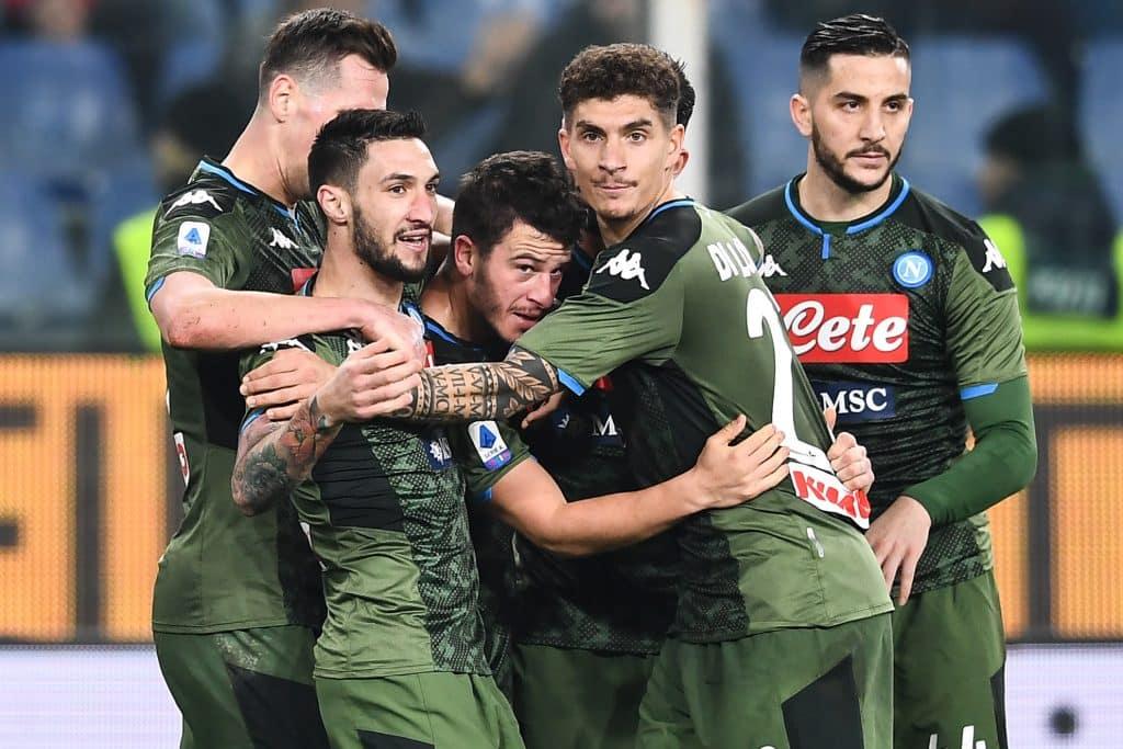 esultanza gol Demme, Sampdoria-Napoli
