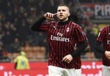 esultanza gol Rebic, Milan-Torino