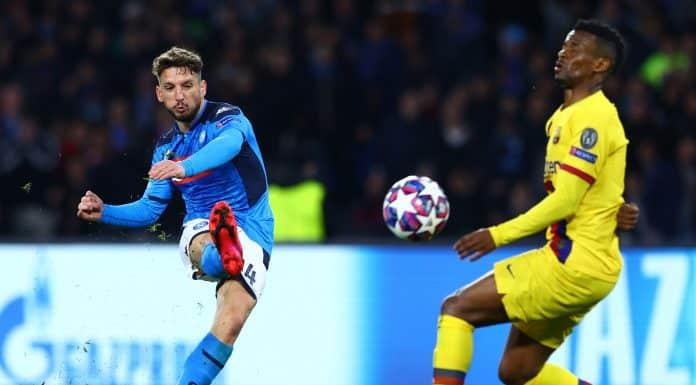 gol Mertens, Napoli-Barcellona