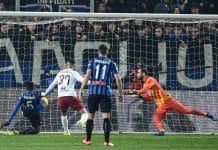 gol Palomino, Atalanta-Roma
