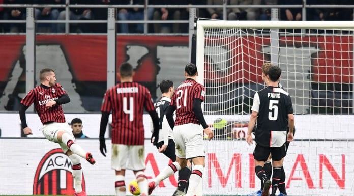 gol Rebic, Milan-Juventus
