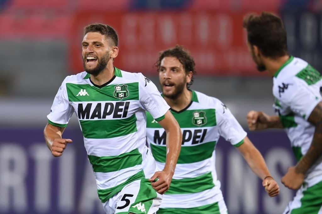 esultanza gol Berardi, Bologna-Sassuolo