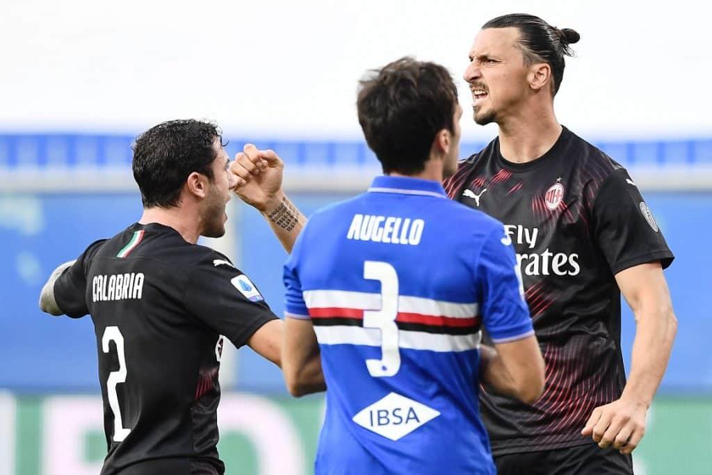 esultanza gol Ibrahimovic, Sampdoria-Milan