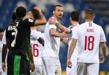 esultanza gol Ibrahimovic, Sassuolo-Milan