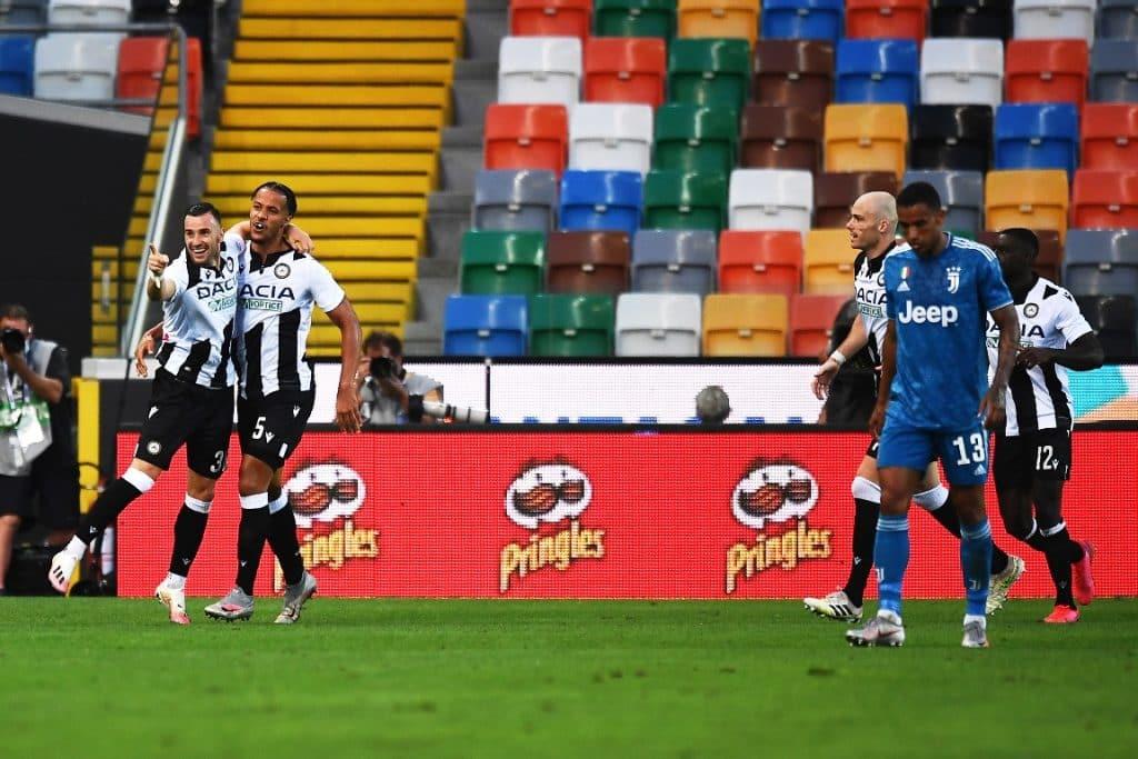 esultanza gol Nestorovski, Udinese-Juventus