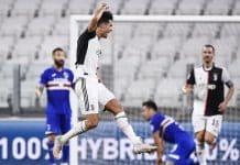 esultanza gol Ronaldo, Juventus-Sampdoria