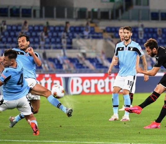 gol Calhanoglu, Lazio-Milan