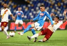 gol Callejon, Napoli-Roma
