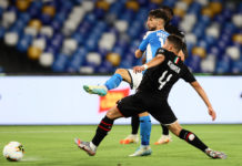 gol Mertens, Napoli-Milan