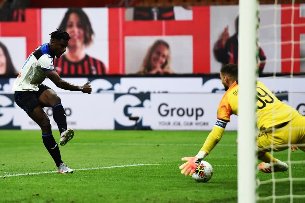 gol Zapata, Milan-Atalanta