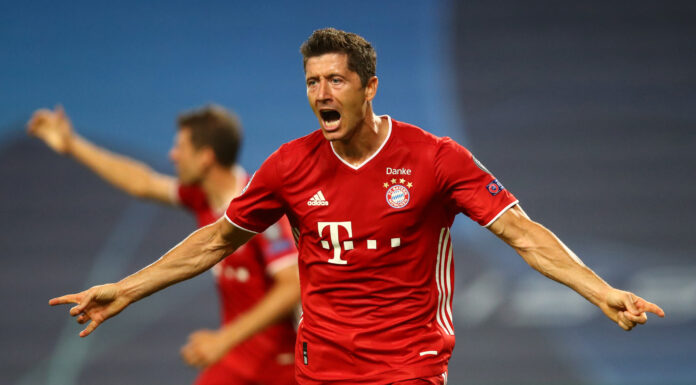 esultanza Lewandowski, Bayern Monaco