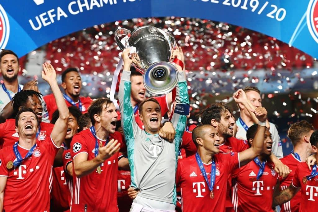 esultanza Bayern Monaco, Champions League