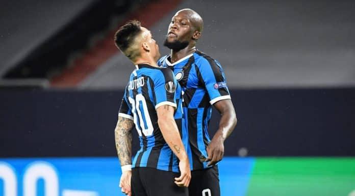 esultanza Lukaku e Lautaro, Inter