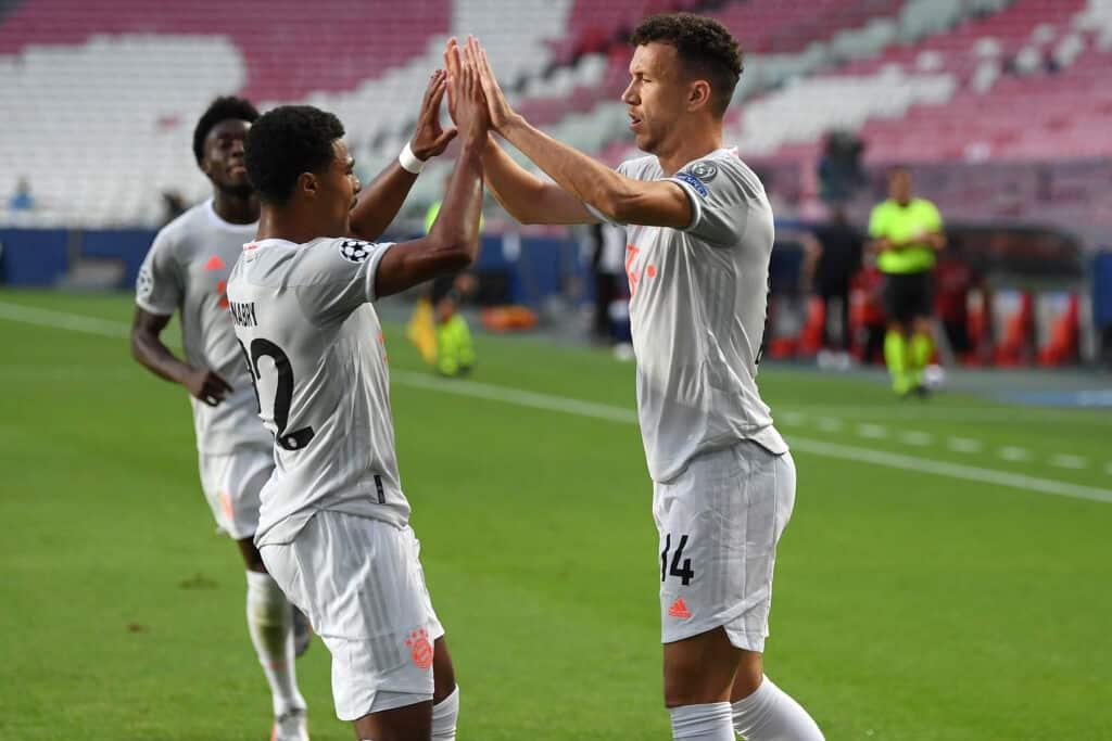esultanza gol Perisic, Barcellona-Bayern Monaco