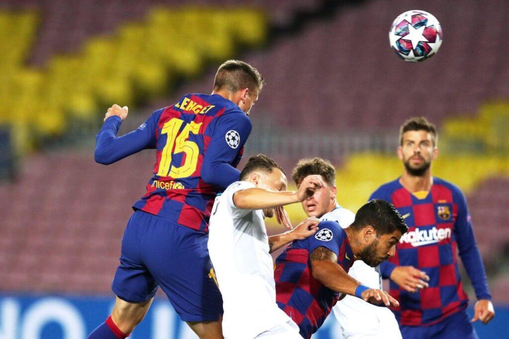 gol Lenglet, Barcellona-Napoli