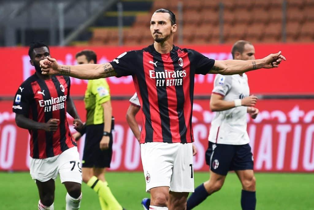 esultanza gol Ibrahimovic, Milan