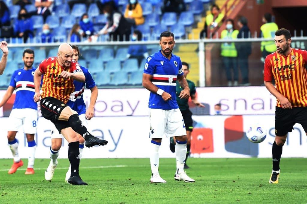 gol Caldirola, Samp-Benevento