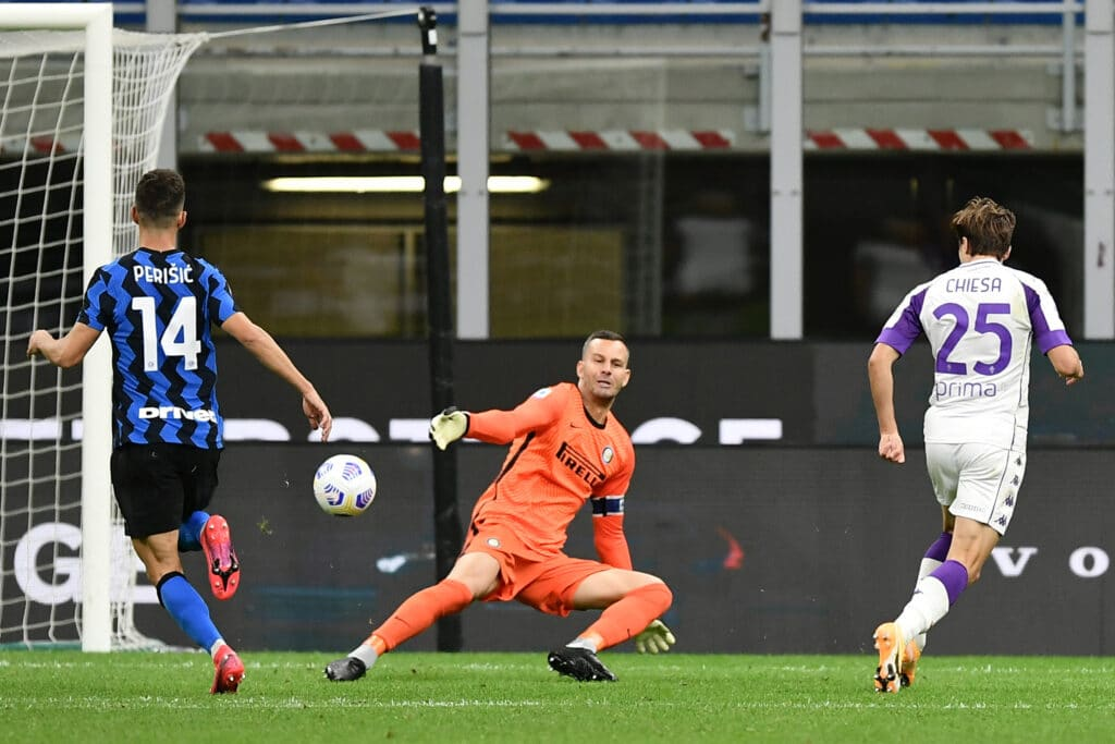 gol Chiesa, Inter-Fiorentina