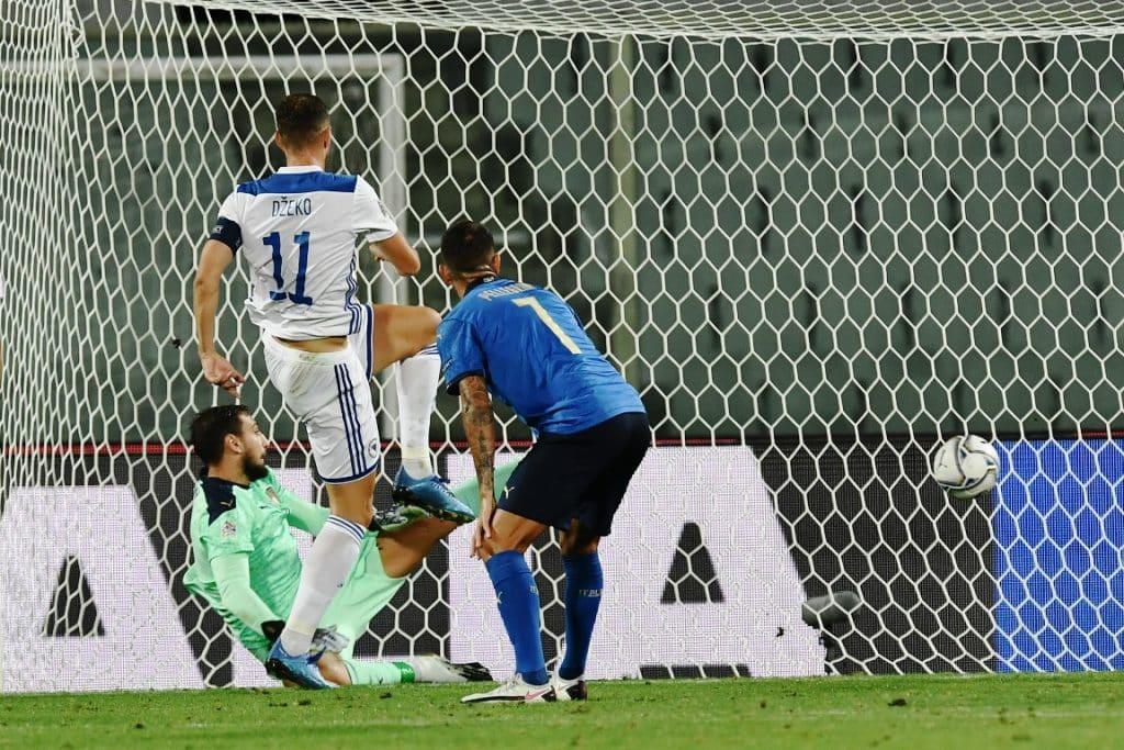 gol Dzeko, Italia-Bosnia