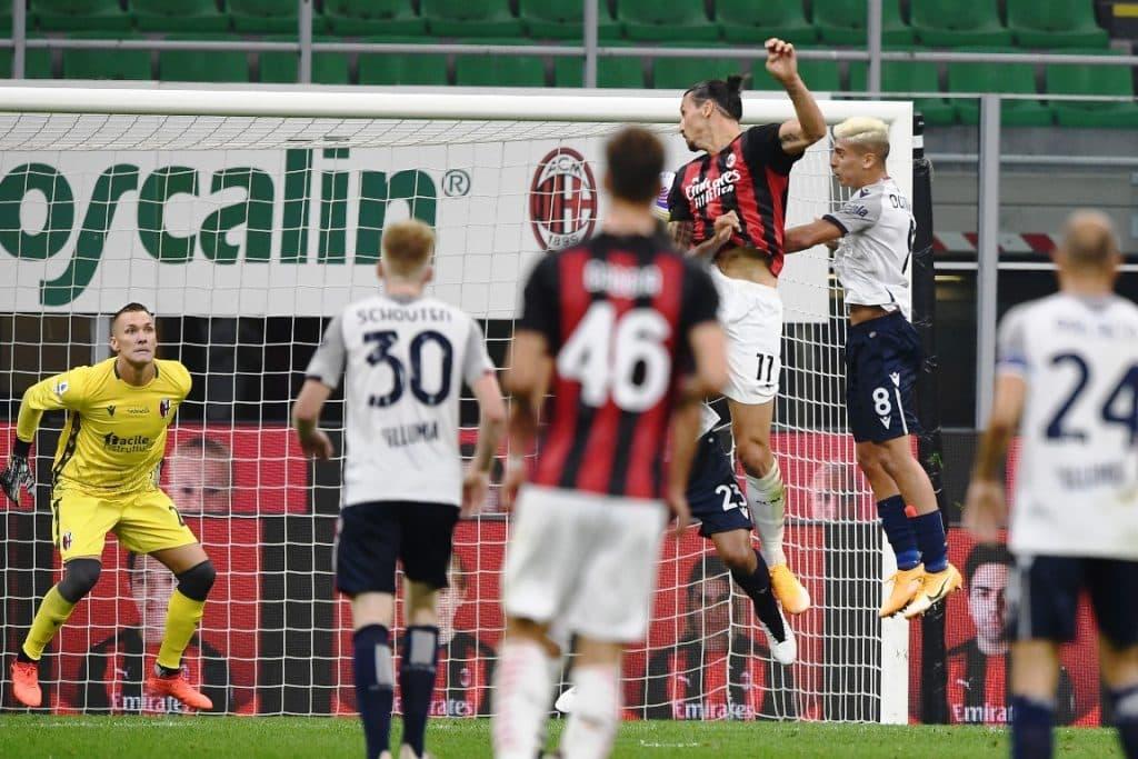 gol Ibrahimovic, Milan-Bologna