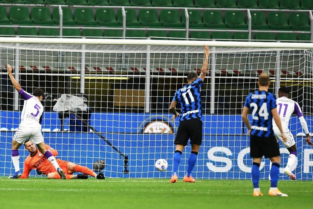 gol Kouame, Inter-Fiorentina