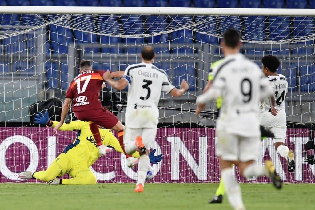 gol Veretout, Roma-Juventus
