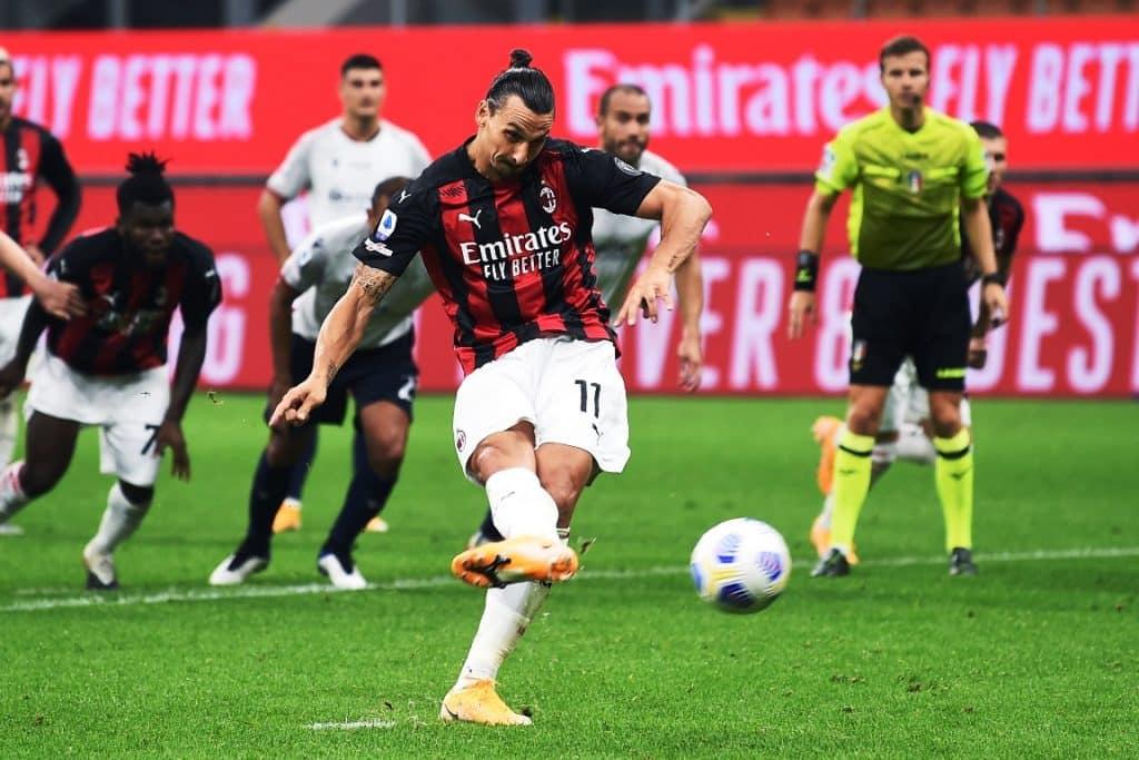 rigore Ibrahimovic, Milan-Bologna