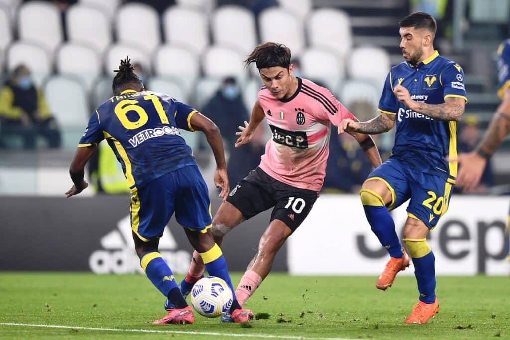 Dybala-Tameze-Zaccagni, Juventus-Verona