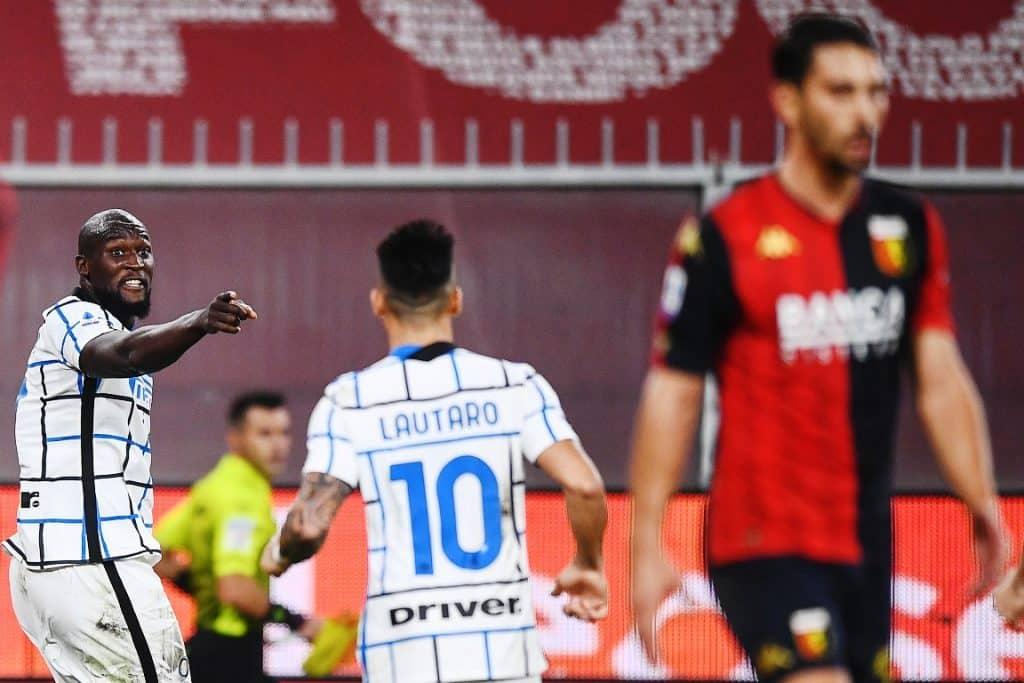 esultanza gol Lukaku, Genoa-Inter