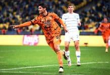 esultanza gol Morata, Dinamo Kiev-Juventus