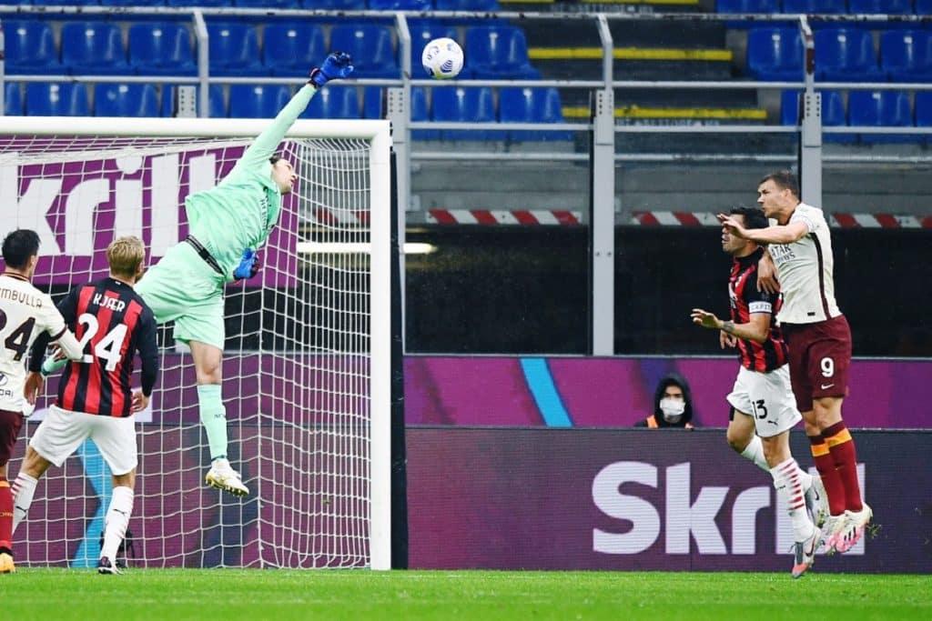 gol Dzeko, Milan-Roma