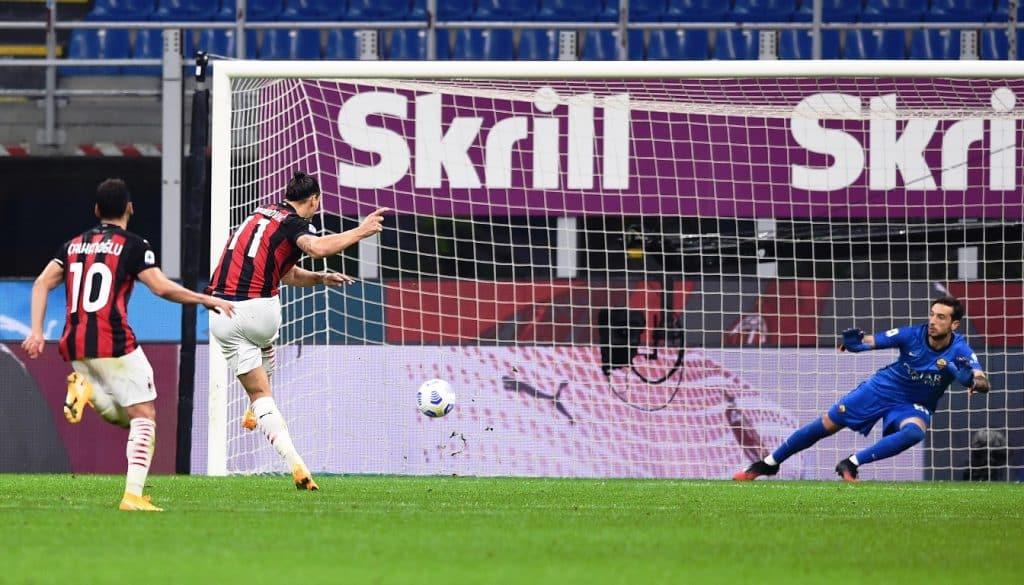 gol Ibrahimovic, Milan-Roma