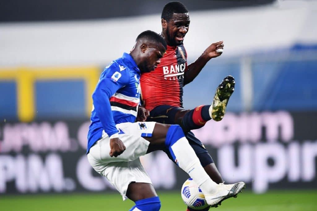 Keita-Zapata, Sampdoria-Genoa