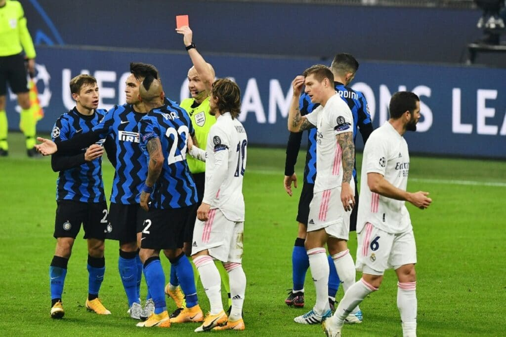 espulsione Vidal, Inter-Real Madrid